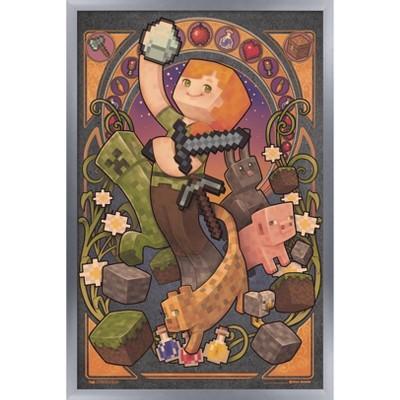 Trends International 24X36 Minecraft - Alex Nouveau Framed Wall Poster Prints