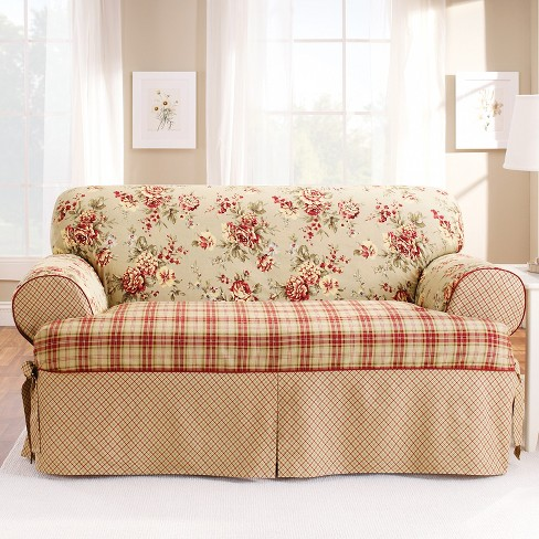 Lexington T-Sofa Slipcover Red - Sure Fit : Target
