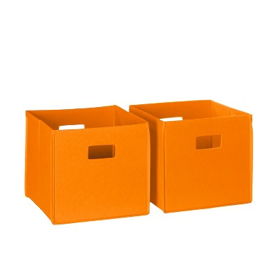 RiverRidge® 2pc Folding Storage Bin Set - Orange