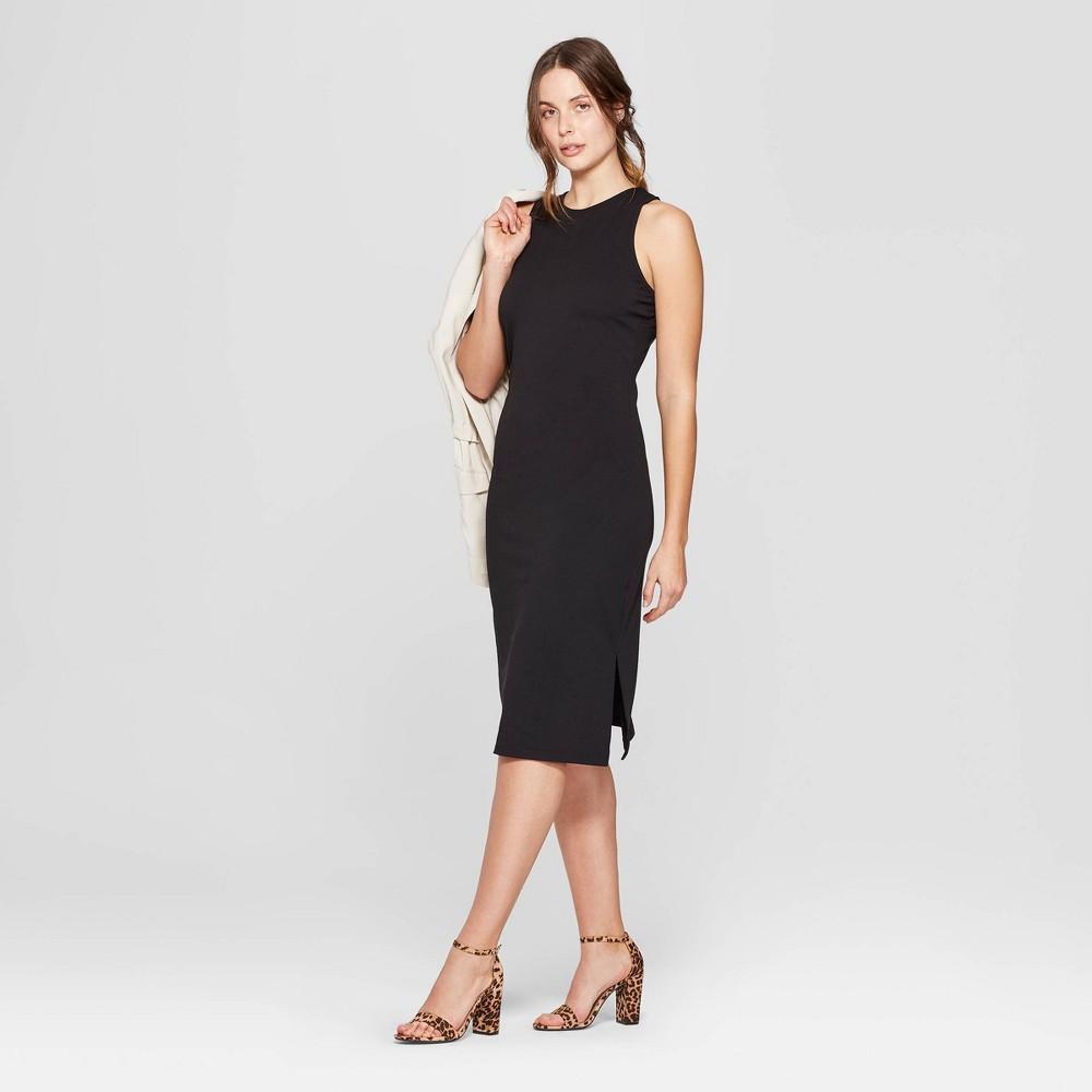 Women's Sleeveless Crewneck Knit Dress - A New Day Black Xxl