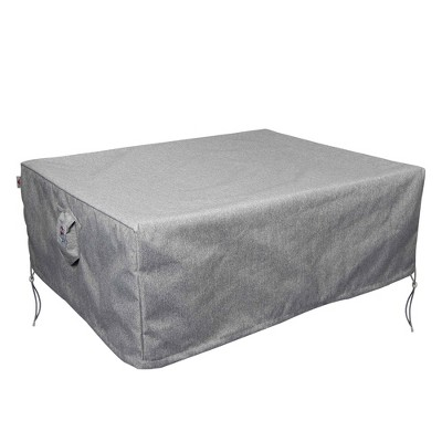 Shield Platinum 3-Layer Polyester Water Resistant Outdoor Dining Set Cover, Grey Melange