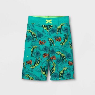 Boys' Dino Swim Trunks - Cat & Jack™ Green