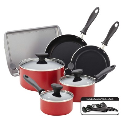 Farberware Reliance 15pc Cookware Set Red