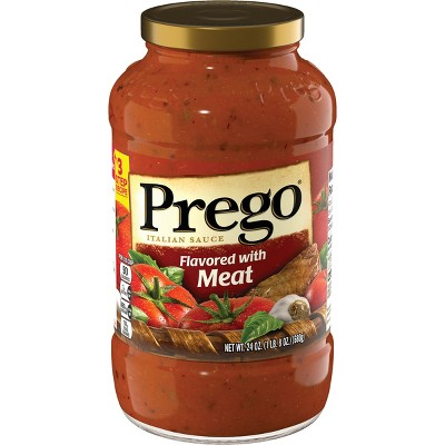 Prego Flavored with Meat Italian Sauce 24oz