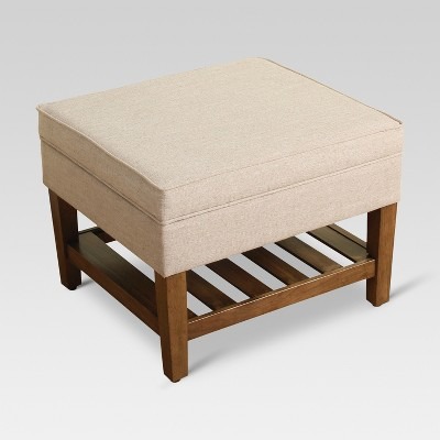 Newtown Storage Ottoman With Wood Slats - Taupe - Threshold™