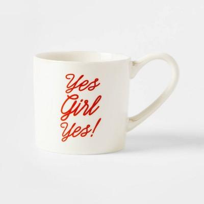 12oz Porcelain Yes Girl Yes Mug Cream - Threshold™