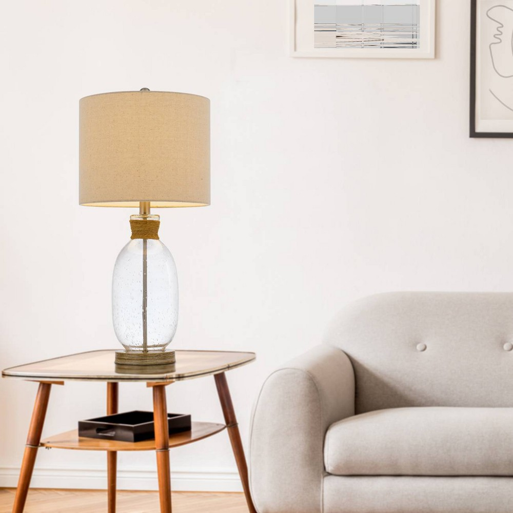 25 5 34 Bubble Glass Resin Contemporary Table Lamp Cal Lighting