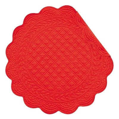 C&F Home Red Round Placemat Set of 6
