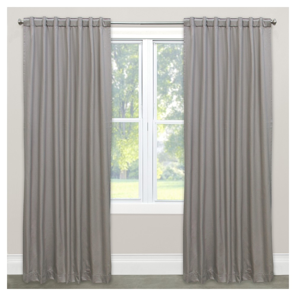 Shantung Blackout Curtain Panel Silver (50