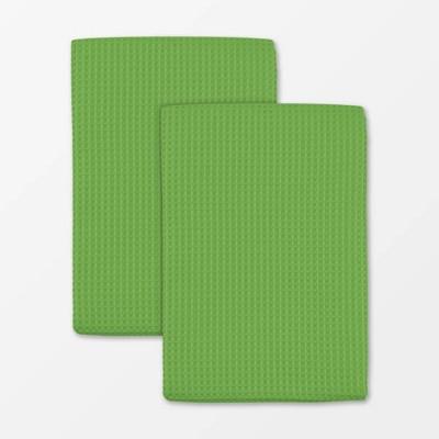 Set of 5 Microfiber Waffle Cloth and Towel Green - MU Kitchen