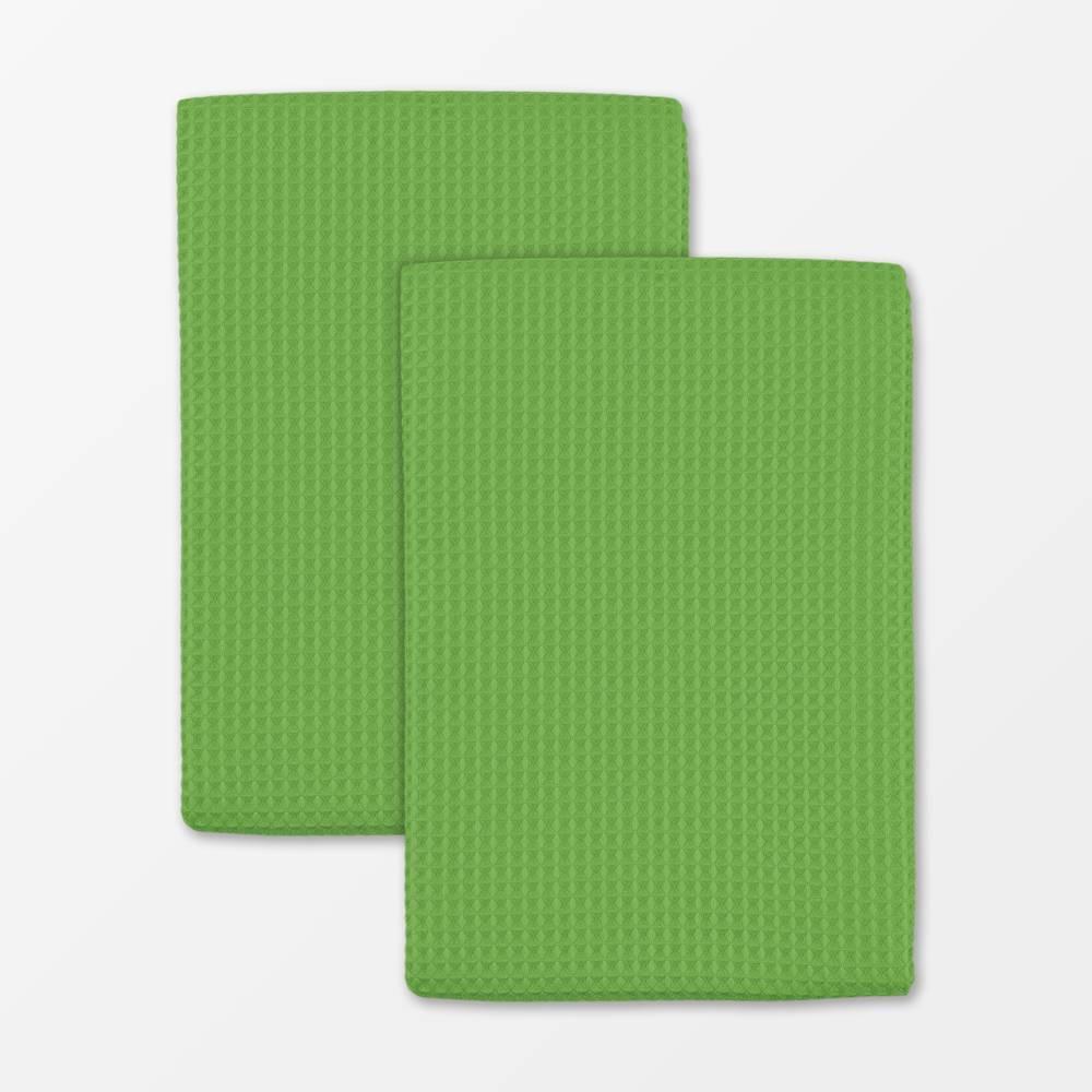 Set of 5 Microfiber Waffle Cloth and Towel Green MU Kitchen