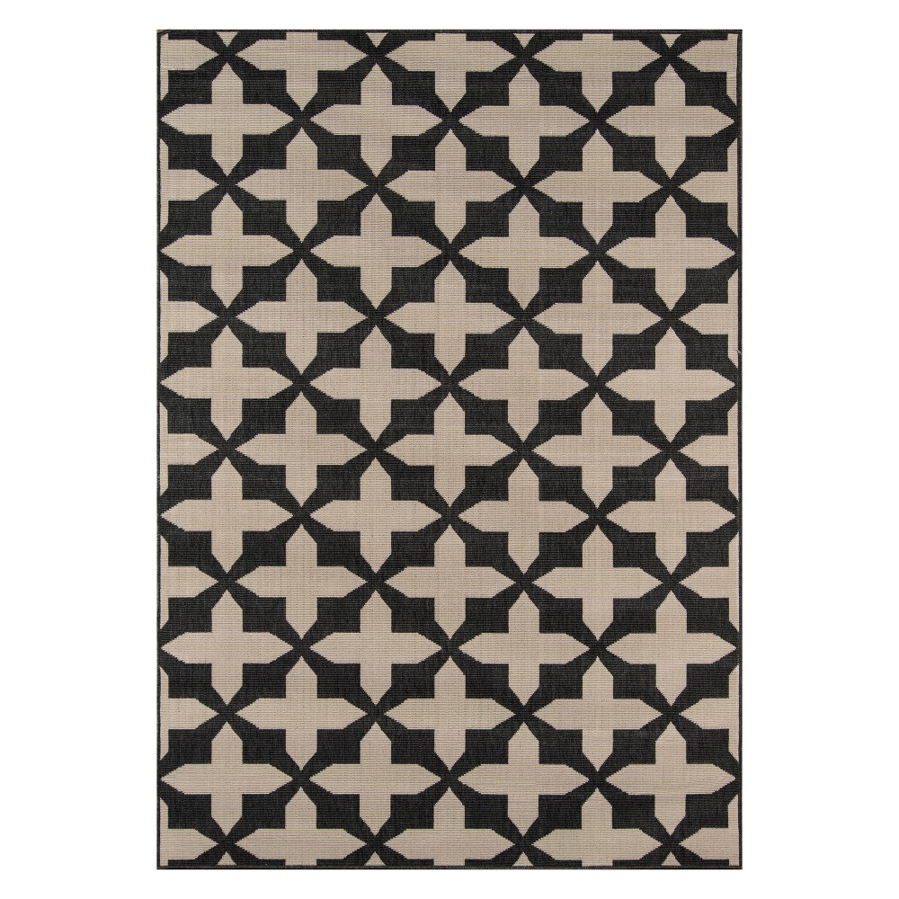 "Image of ""1'8""""X3'7"""" Geometric Loomed Accent Rug Charcoal - Momeni, Grey"""