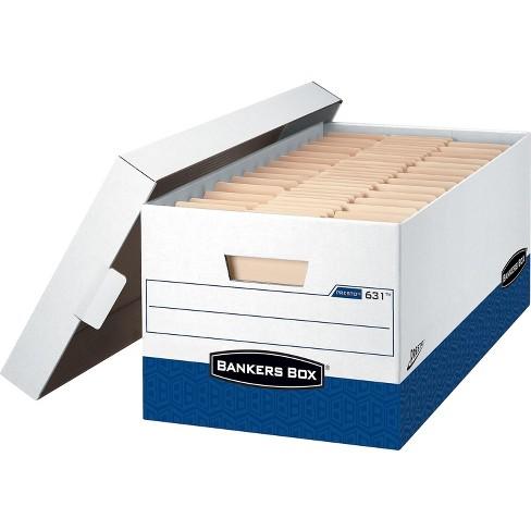 Bankers Box Presto Corrugated Boxes Letter Size White/Blue 736547 - image 1 of 1