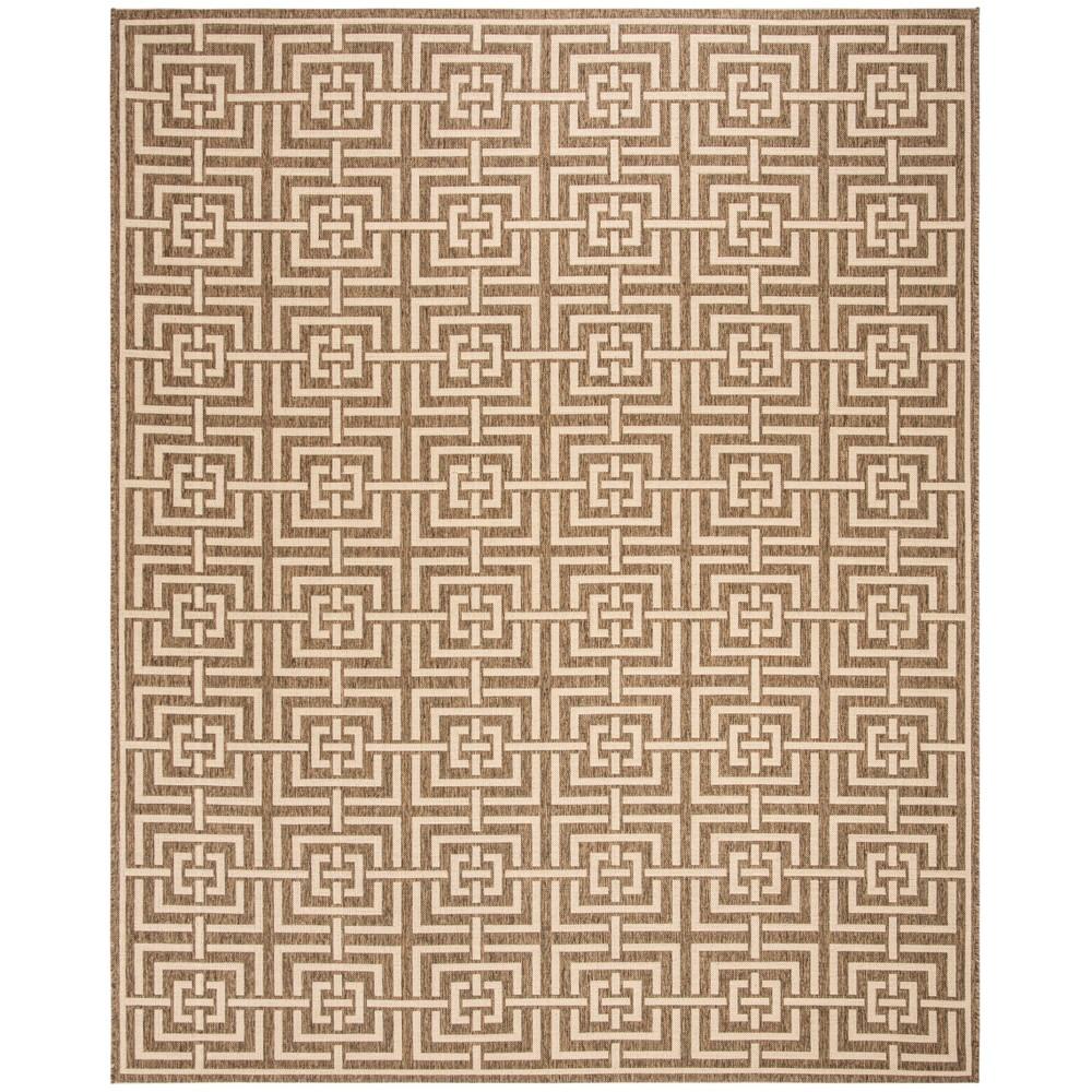 9 X12 Geometric Loomed Area Rug Beige Cream Safavieh