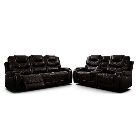 2pc Edansy Transitional Loveseat and Sofa Set - HOMES: Inside + Out - image 1 of 4