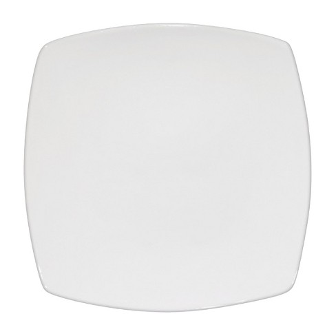 "Square Porcelain Salad Plate 8"" White Set of 4 - Threshold™ - image 1 of 1"