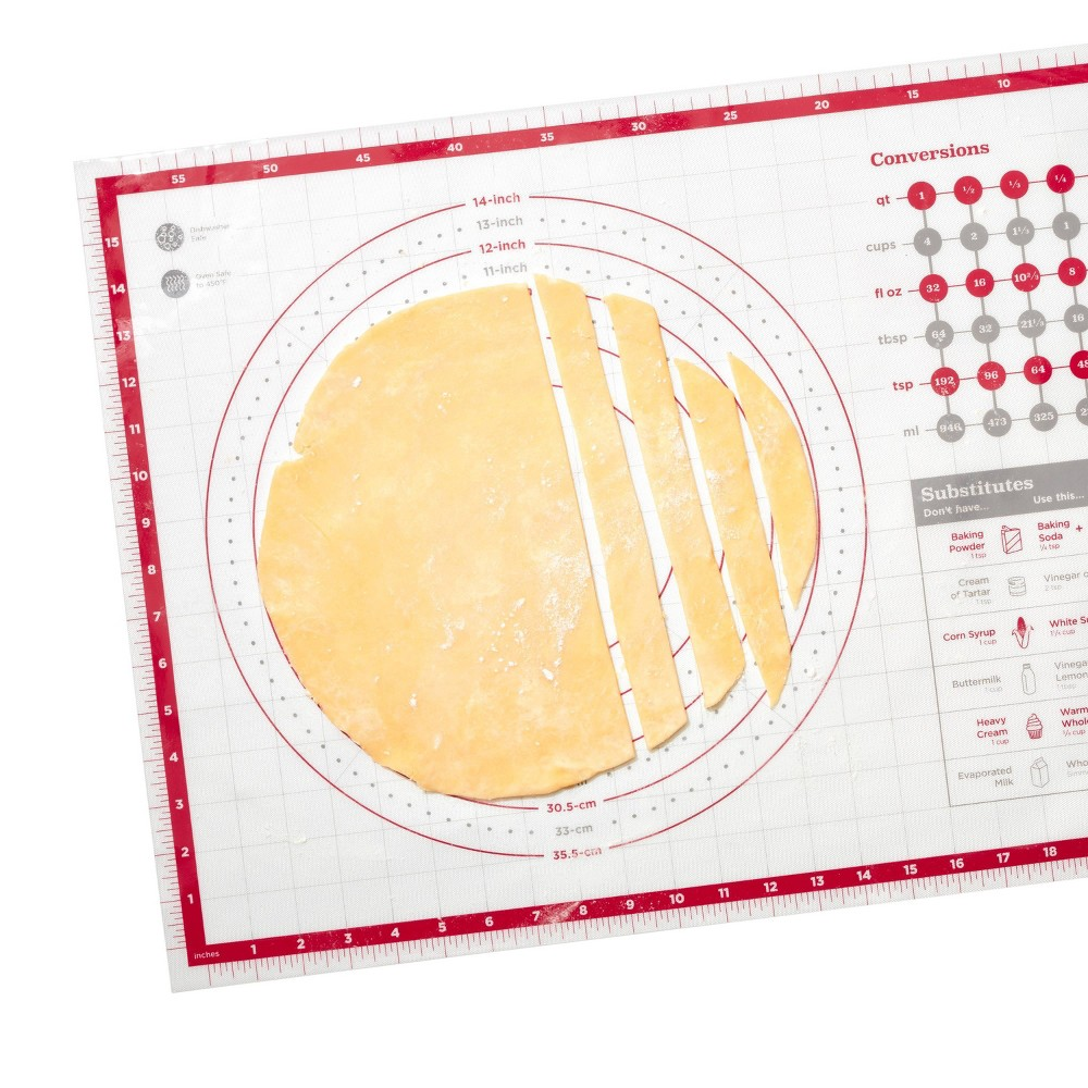 "Image of ""OXO 17.5""""x24.5"""" Silicone Pastry Mat, Red"""