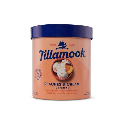 Tillamook Peaches & Cream Ice Cream  - 48oz