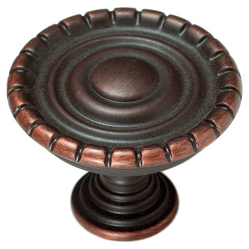 Sumner Street Home Hardware - 1.25 - 4 -Piece - Knob - Oil-Rubbed Bronze Laurel - image 1 of 3