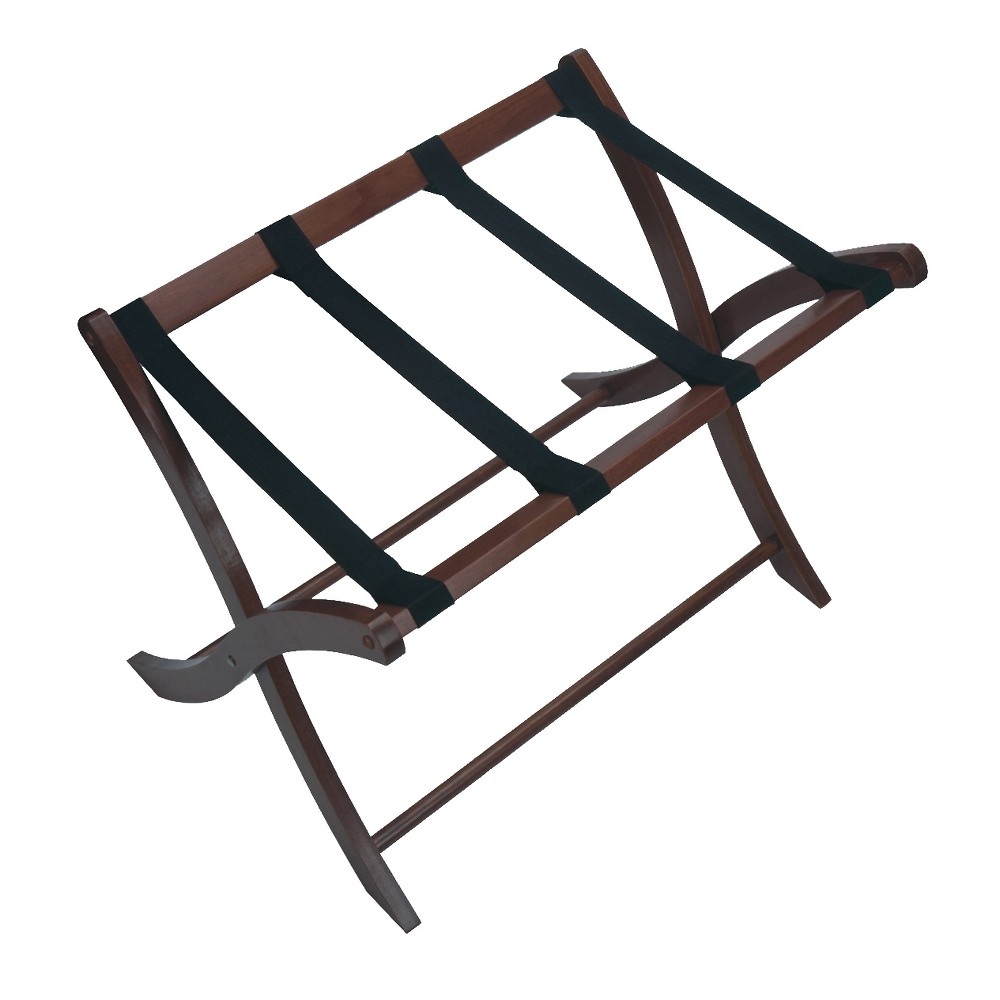 Scarlett Luggage Rack In Walnut Brown - Winsome