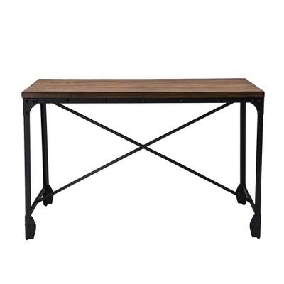 Greyson Vintage Industrial Home Office Wood Desk   Brown   Baxton Studio :  Target