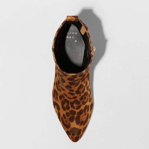 a5e2a6b92199 Women's Valerie Microsude Leopard Print City Ankle Fashion Boots - A ...