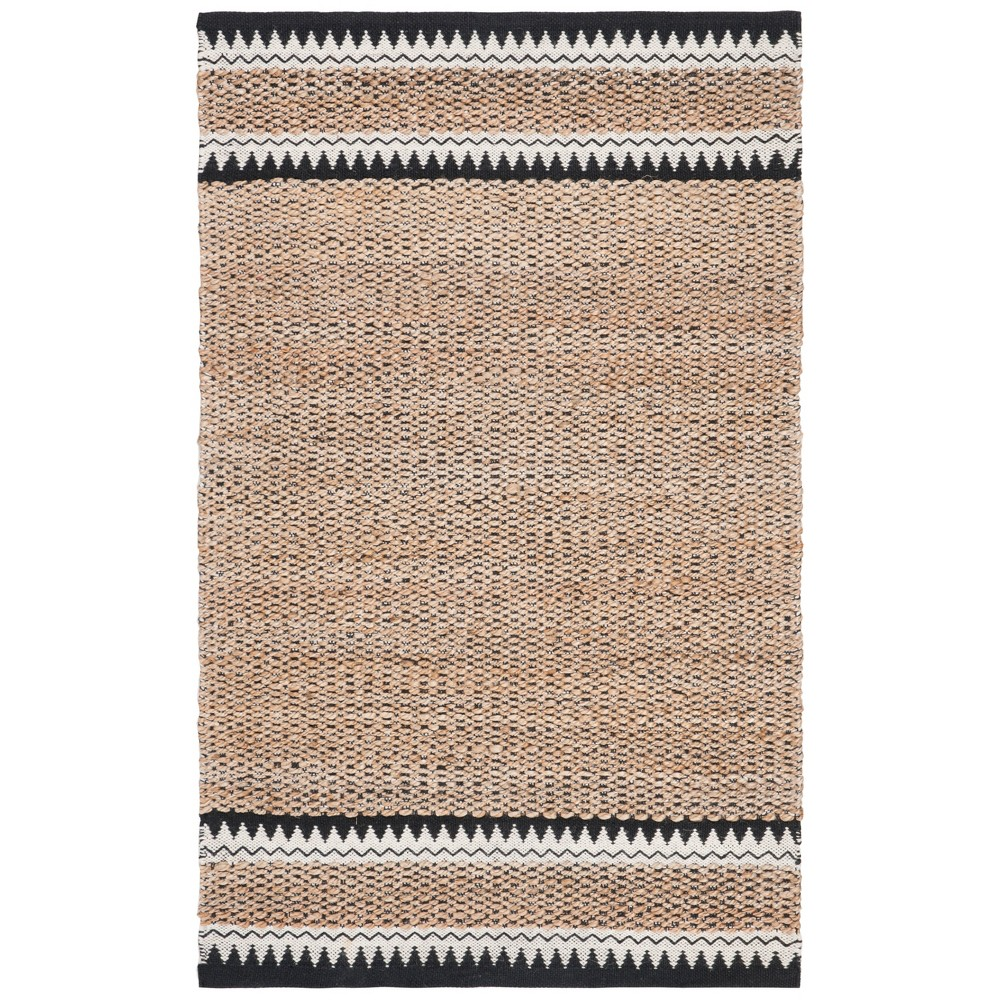 4'X6' Woven Solid Area Rug Natural - Safavieh, White