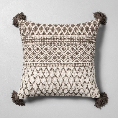 Pattern Throw Pillow Sour Cream / Gray - Hearth & Hand™ with Magnolia
