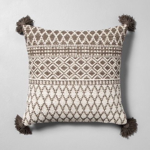 Pattern Throw Pillow Sour Cream / Gray - Hearth & Hand™ with Magnolia - image 1 of 5