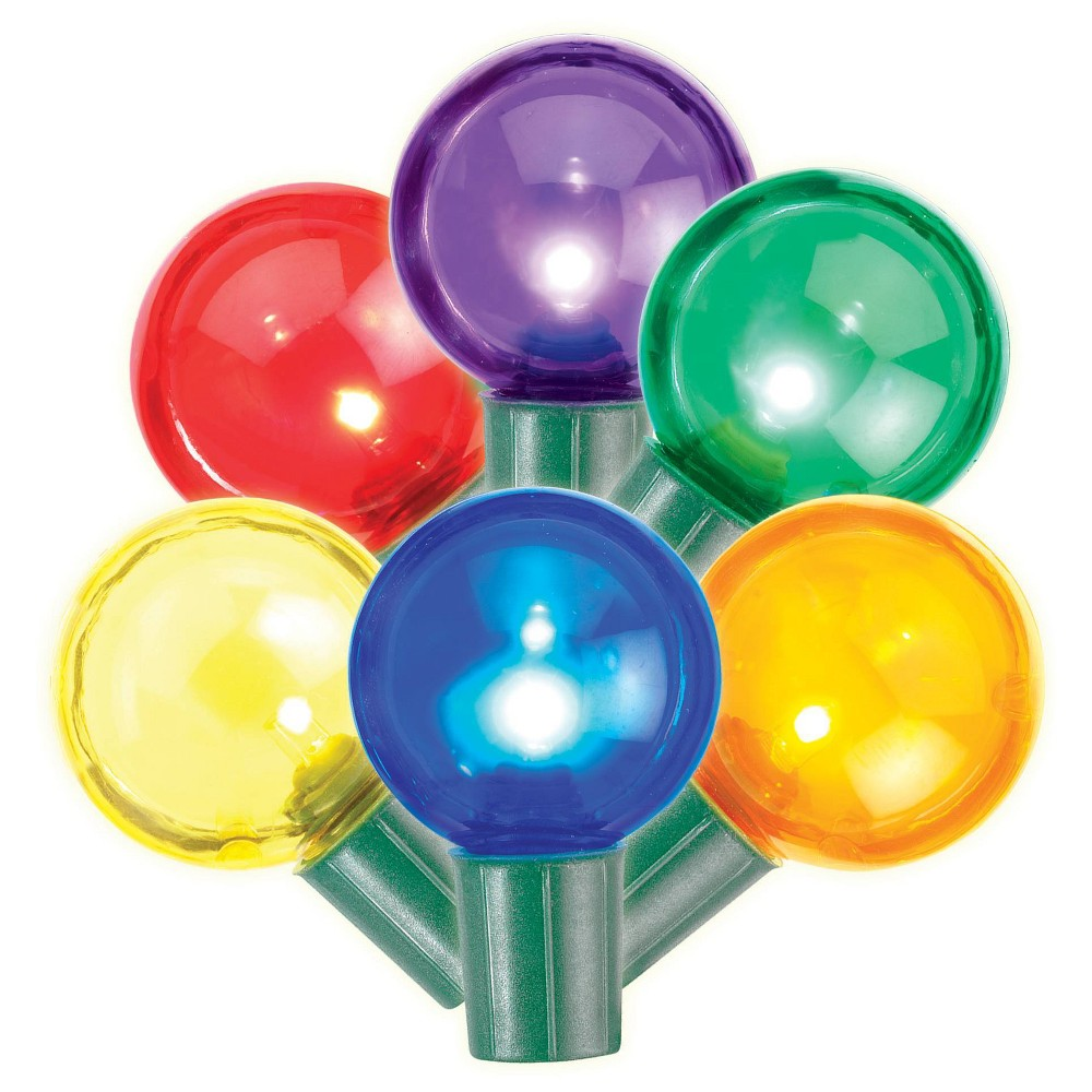 Image of Philips 25ct Christmas LED G40 String Lights Multicolored
