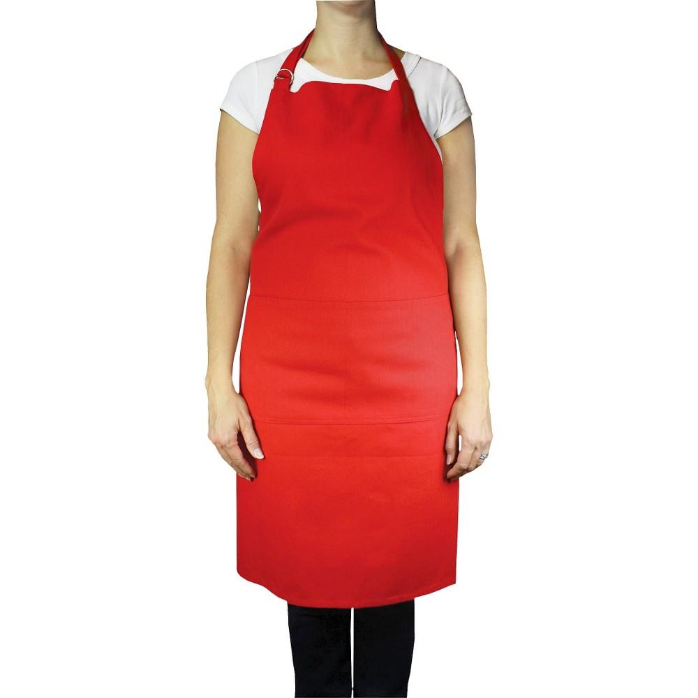 Chef Apron Crimson Red - Mu Kitchen