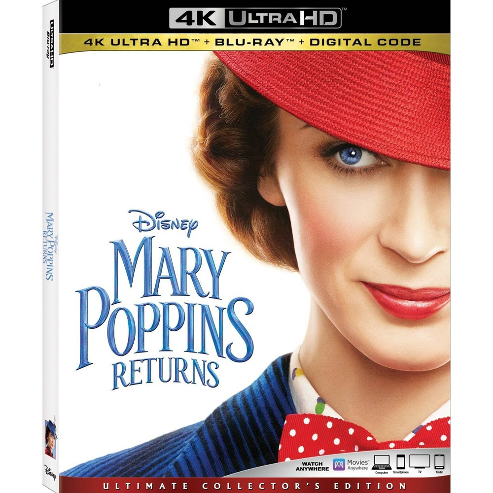 Mary Poppins Returns (4K/UHD) was $29.99 now $20.0 (33.0% off)