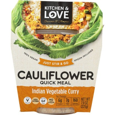 Cucina & Amore Gluten Free and Vegan Cauliflower Indian Vegetable Curry Quick Meal - 7.9oz