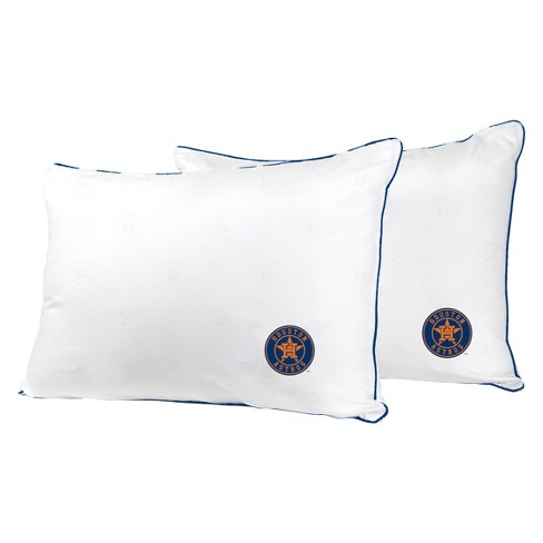 MLB Houston Astros White Embroidered Bed Pillow 2pk - image 1 of 1