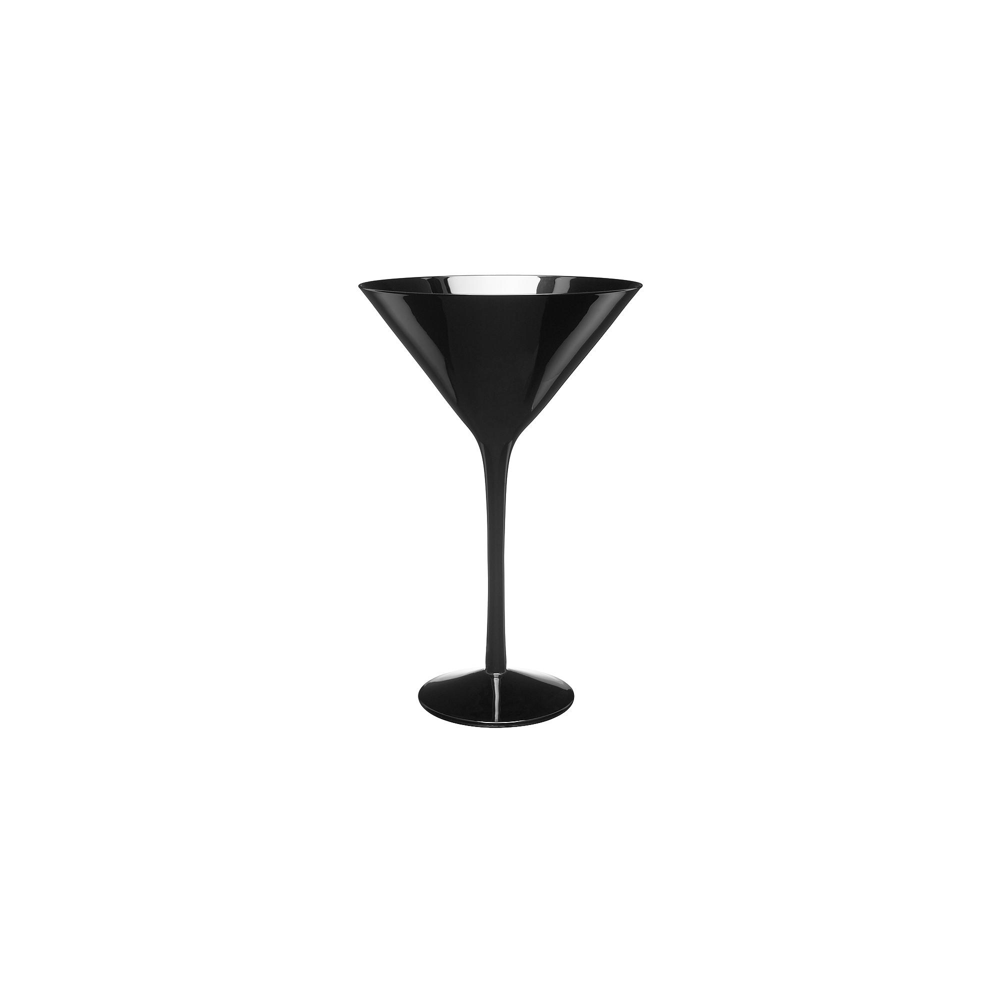 Artland 7oz 4pk Martini Glasses Black