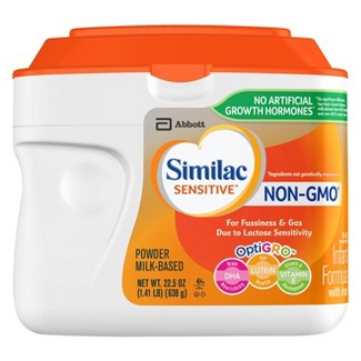 Similac Sensitive Non-GMO Lactose Sensite Powder Formula - 22.5oz