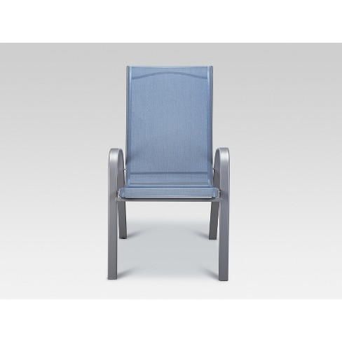 Stupendous Stack Sling Patio Chair Blue Threshold Download Free Architecture Designs Meptaeticmadebymaigaardcom