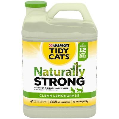 Tidy Cats Naturally Strong Cat Litter Lemongrass Scent