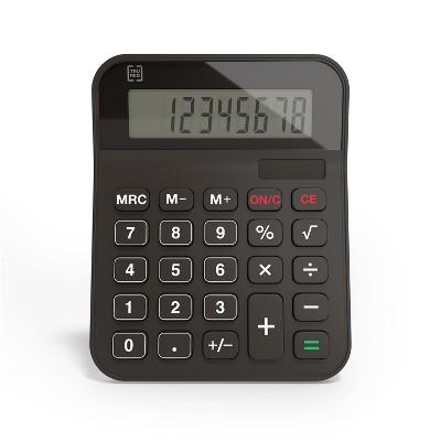 TRU RED TR230 8-Digit Desktop Calculator, Black