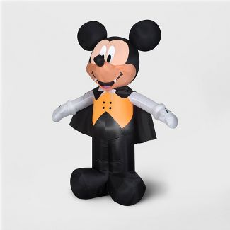 6' Disney Mickey Vampire Inflatable Halloween Decoration
