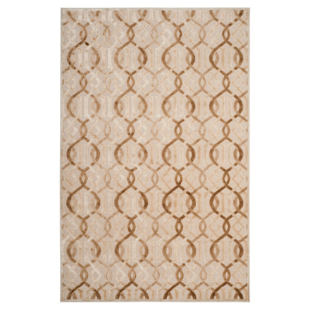 Cream (Ivory) Geometric Loomed Accent Rug - (4'X5') - Safavieh