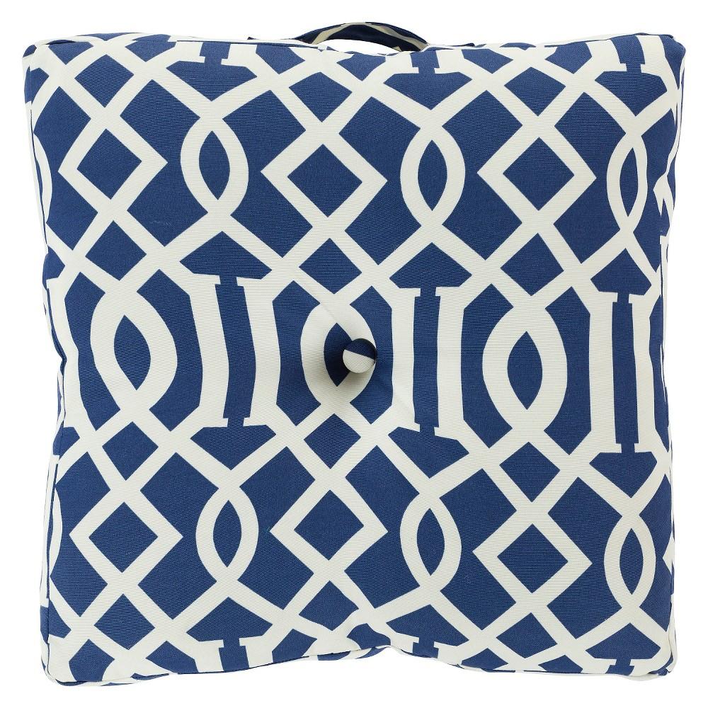 Cobalt (Blue) Soli Geometric Throw Pillow 22