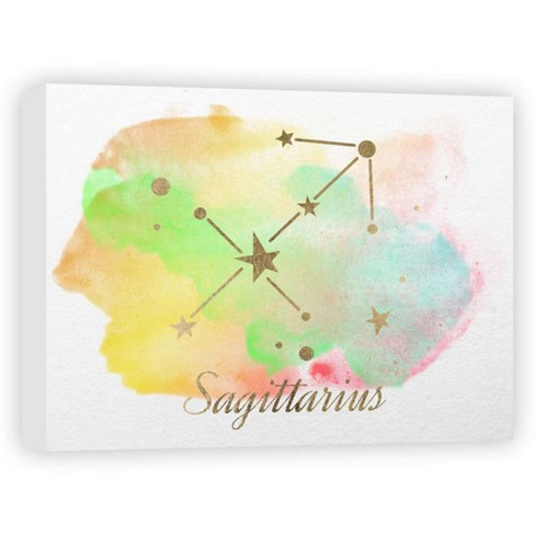 "Sagittarius Decorative Canvas Wall Art 11""x14"" - PTM Images - image 1 of 1"