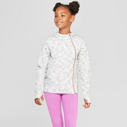 Girls' Plush Fleece Asymmetrical Full Zip Hoodie - C9 Champion®