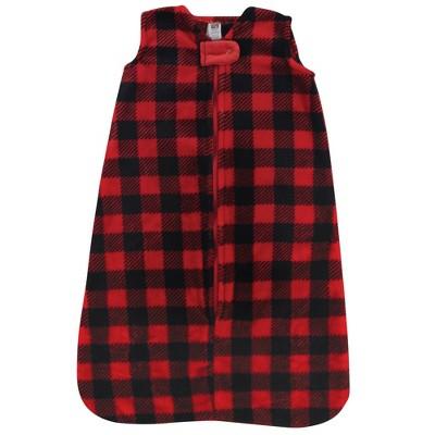 Hudson Baby Unisex Baby Plush Sleeping Bag Sack Blanket - Buffalo Plaid 6-12M
