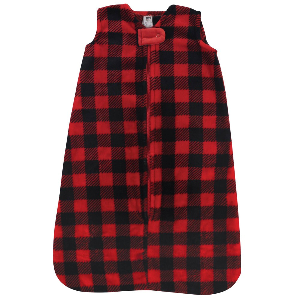 Hudson Baby Unisex Baby Plush Sleeping Bag Sack Blanket Buffalo Plaid 12 18 Months
