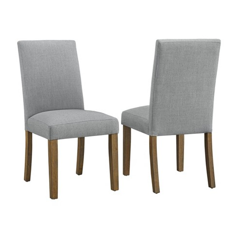 Set of 2 Fulton Parsons Chair Gray/Walnut - CosmoLiving by Cosmopolitan - image 1 of 6