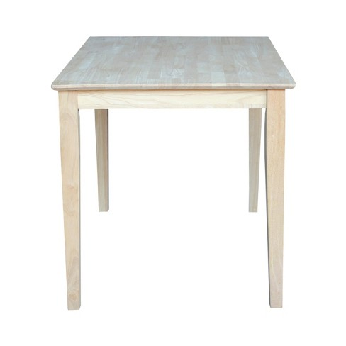 X Solid Wood Dining Table Unfinished International - 30 x 42 dining table