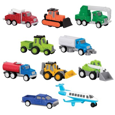 DRIVEN – Mini Toy Trucks and Airplane – Pocket Fleet Multipack - 10 pc