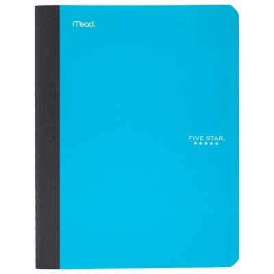 Five Star Graph Ruled Composition Notebook (Color Will Vary)